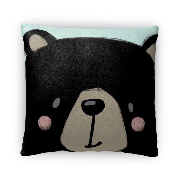 Bear Throw Pillow by KAVKA DESIGNS
