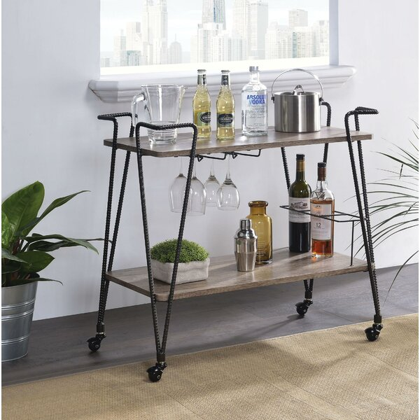 Kauffman Metal Bar Cart by 17 Stories