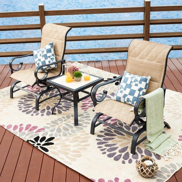 Strawbridge 3 Piece Seating Group with Cushions by Charlton Home Charlton Home