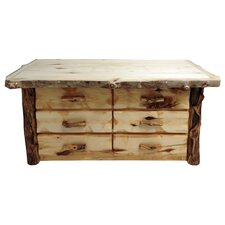 Aspen Grizzly 6 Drawer Dresser by Mountain Woods Furniture