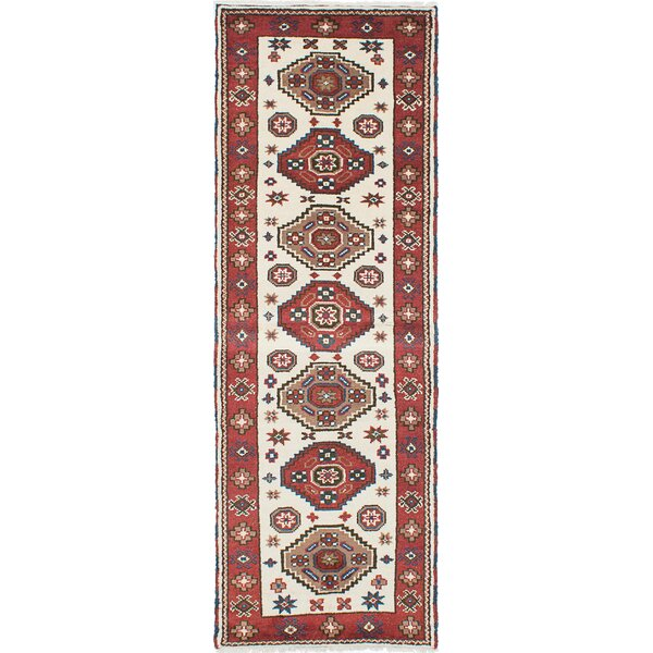 One-of-a-Kind Doering Hand-Knotted Copper/Cream Area Rug by Isabelline