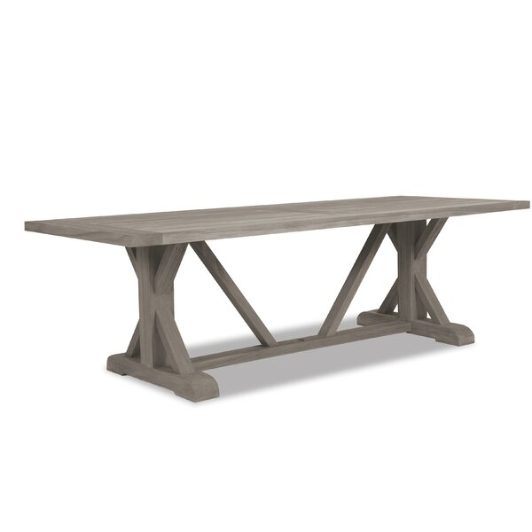 Teak Trestle Solid Wood Dining Table by Sunset West