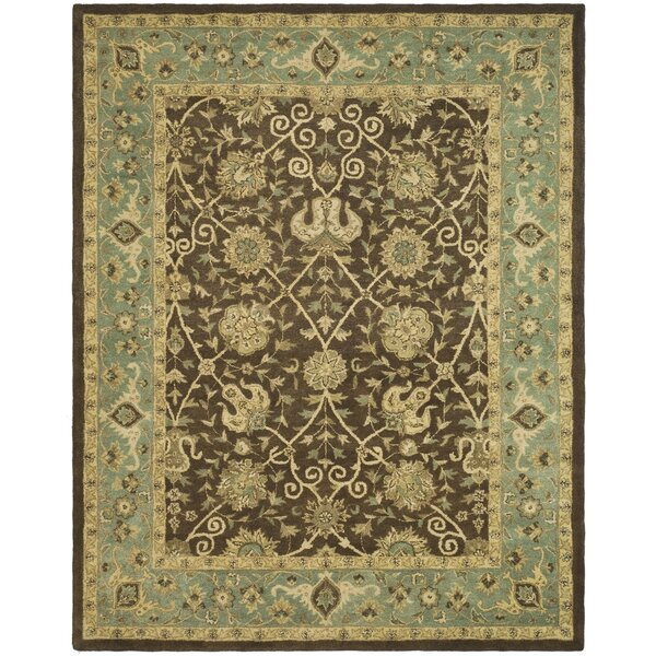 Dunbar Hand-Woven Wool Brown/Green Area Rug by Charlton Home