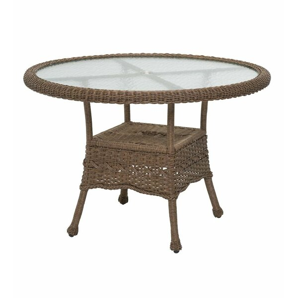 Prospect Hill Round Outdoor Wicker Dining Table by Plow & Hearth