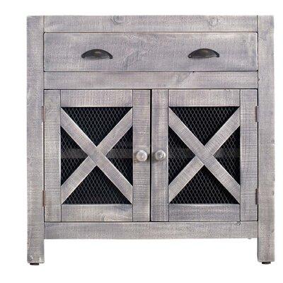 Hughley 2 Door Accent Cabinet Gracie Oaks Color: Silver