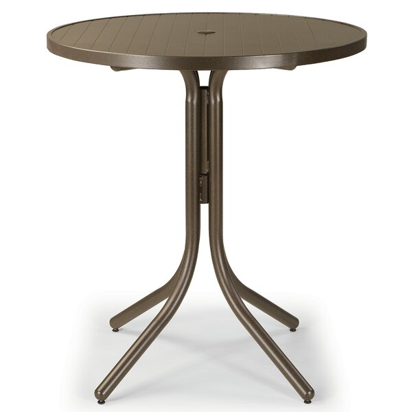 Aluminum Slat 36 Round Dining Table by Telescope Casual