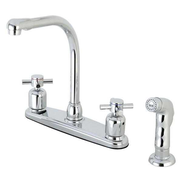 Concord Double Handle Kitchen Faucet with Side Spray by Kingston Brass