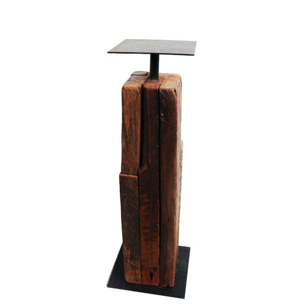 Reclaimed Tropical Metal Candlestick by Asian Art Imports