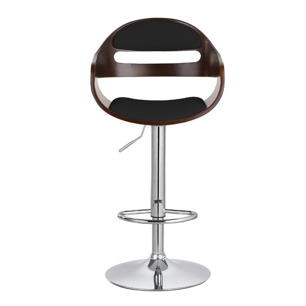 Carlos Upholstered Adjustable 32.9 Swivel Bar Stool by Corrigan Studio