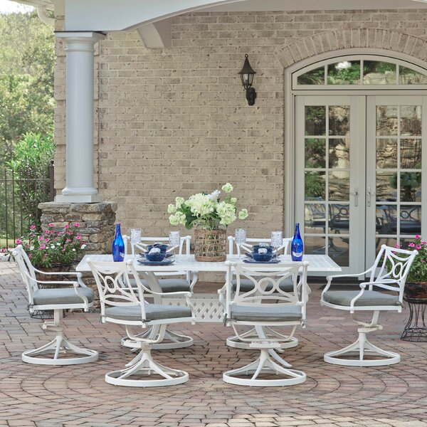 Flagg Cast Aluminum Outdoor 7 Piece Dining Set with Cushions by Darby Home Co
