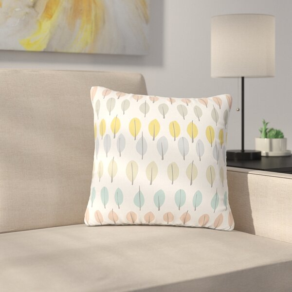 Gukuuki Simple Leaves Nature Outdoor Throw Pillow by East Urban Home