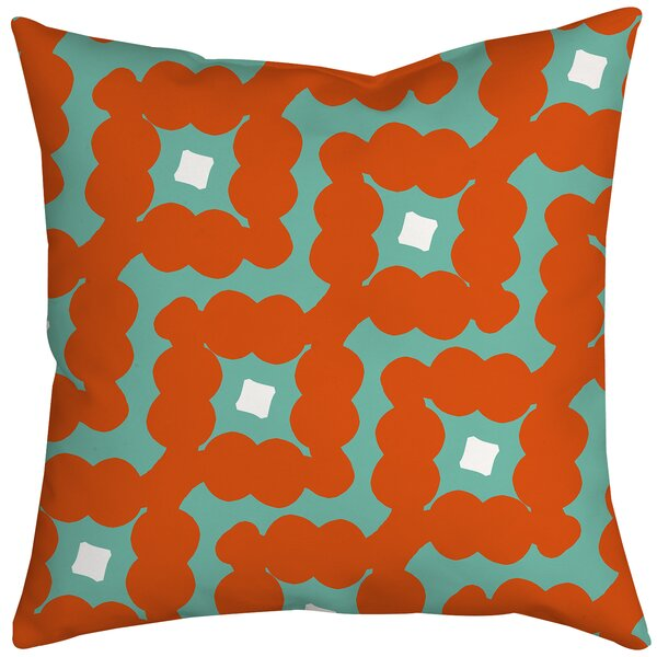 Diamond-Shaped Cloud Geometric Throw Pillow by Positively Home