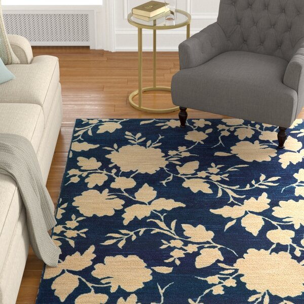 Alicia Blue/Beige Area Rug by Alcott Hill