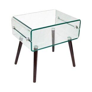 Sylvia Glass End Table