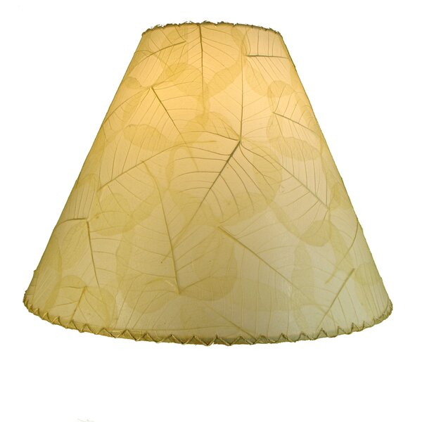 12 H Banyan leaf Empire Lamp shade ( Screw on )