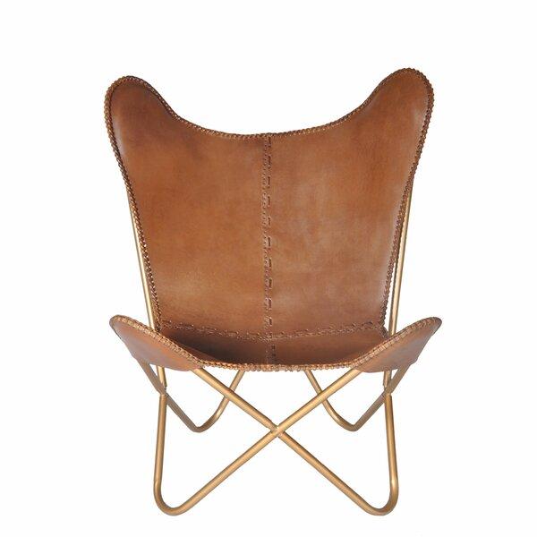 Aldo Leather Butterfly Chair By Brayden Studio