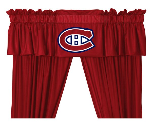 NHL Montreal Canadiens 88 Curtain Valance by Sports Coverage Inc.