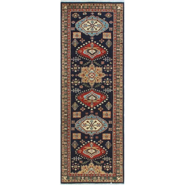 One-of-a-Kind Jacque Hand-Knotted Wool Blue/Brown Area Rug by Isabelline