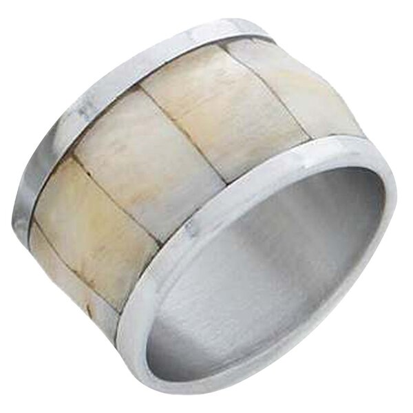 Lilah Mother-of-Pearl Napkin Ring (Set of 4) by Godinger Silver Art Co