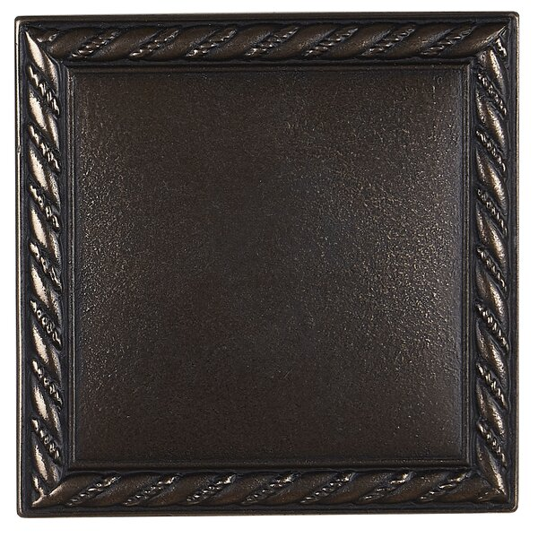 Tilden 4 x 4 Metal Rope Decorative Accent Tile in Antique Bronze by Itona Tile