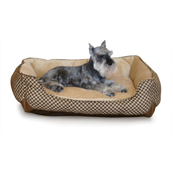 Self Warming Lounge Sleeper Bolster Dog Bed by K&H Manufacturing