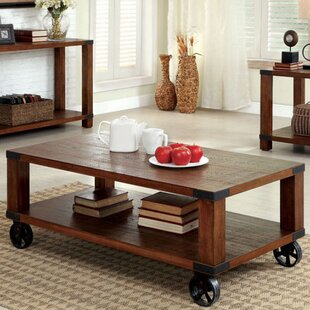 Whiten Coffee Table with Storage Loon Peak