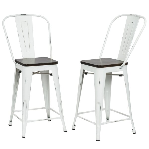Beavers 24 Bar Stool (Set of 2) by Williston Forge