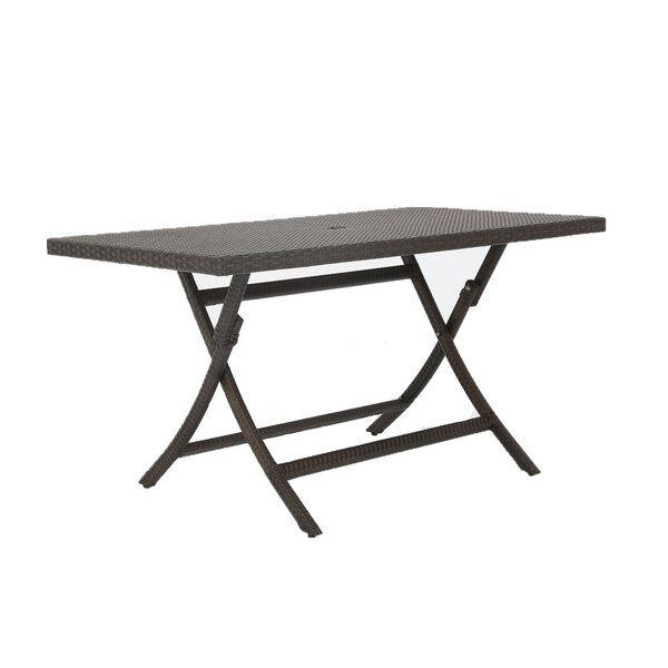 Kalb Extendable Wicker Dining Table by Winston Porter