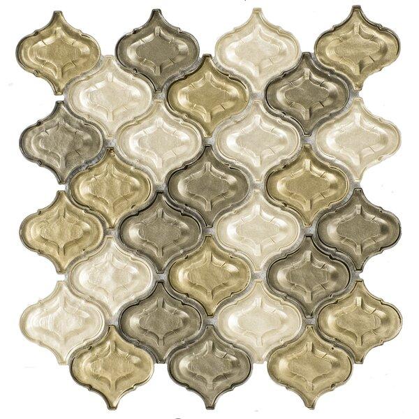 Lantern Glass Mosaic Tile in Champagne by Byzantin Mosaic