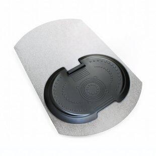 Sit and Stand Ergonomic Solution Medium Pile Carpet Beveled Chair Mat by Floortex