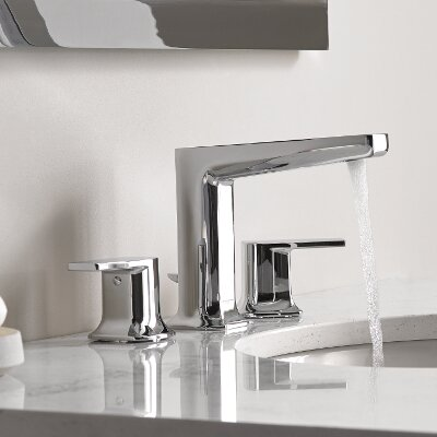 Via Standard Bathroom Faucet Double-Handle Lever by Moen