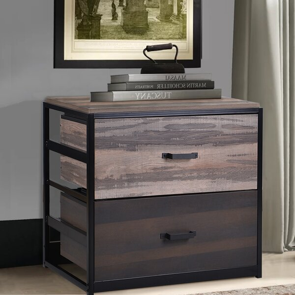 Spradlin MDF 2-Drawer Vertical Filing Cabinet