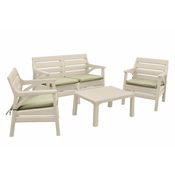 Renfroe Premium Weather Resistant 4 Piece Multiple Chairs Seating Group with Cushions by Highland Dunes