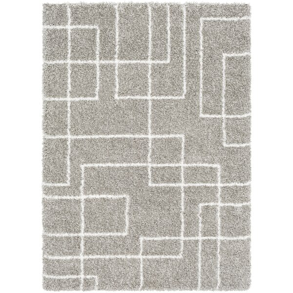 Swampscott Geometric Light Gray/Taupe Area Rug by George Oliver