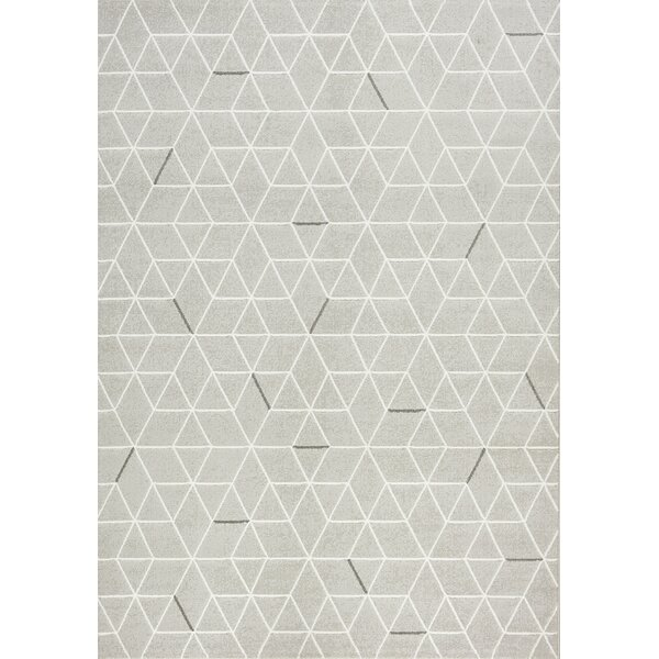 Montgomery Geometric Gray Area Rug by Red Barrel Studio