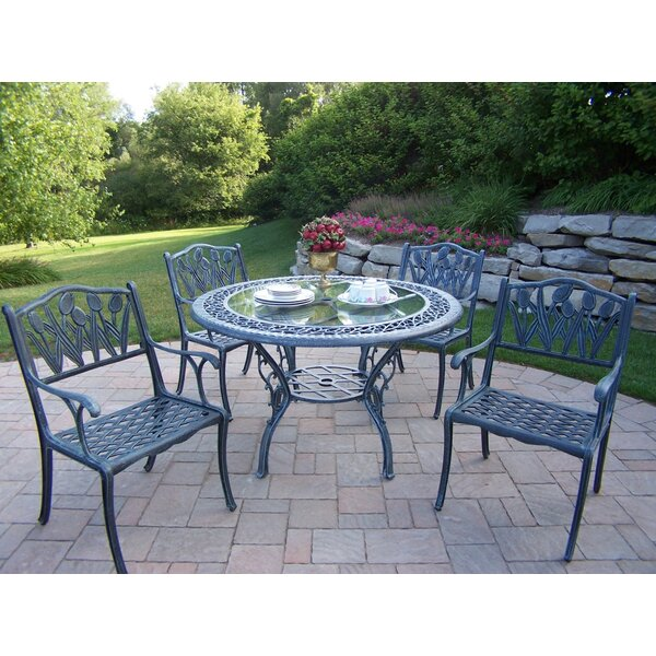 Mississippi Tulip 5 Piece Dining Set by Oakland Living