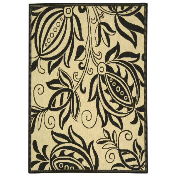 Laurel Sand/Black Indoor Area Rug by August Grove