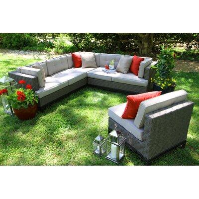 Brayden Studio Sectional Sunbrella Cushions Sofas