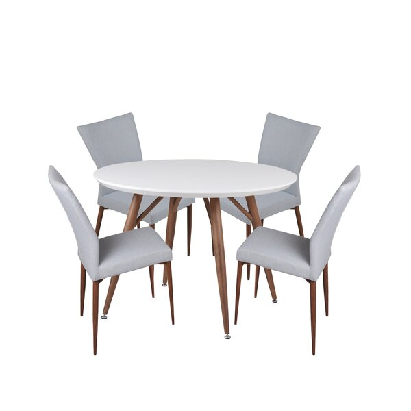 Brandyn 5 Piece Breakfast Nook Dining Set by Corrigan Studio Corrigan Studio