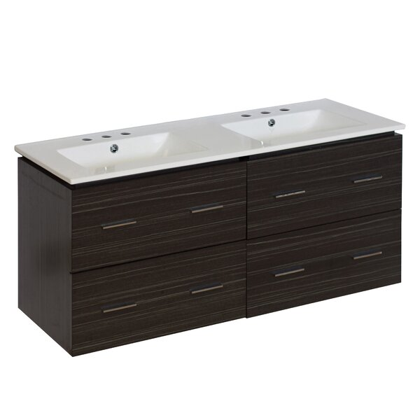 Kyra 48 Rectangle Double Bathroom Vanity by Orren Ellis