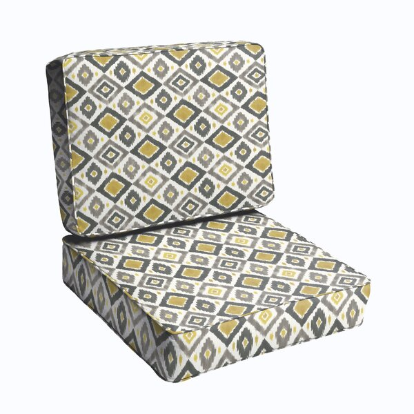 2 Piece Indoor/Outdoor Chair Cushion Set by Bungalow Rose