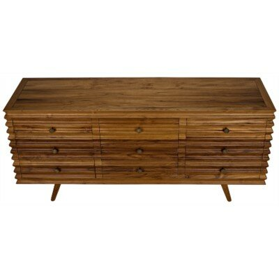 Cupola 9 Drawers Standard Dresser by Noir