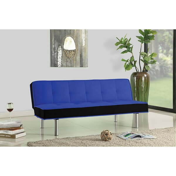 Maud Sturdy Flannel Fabric Adjustable Convertible Sofa by Latitude Run
