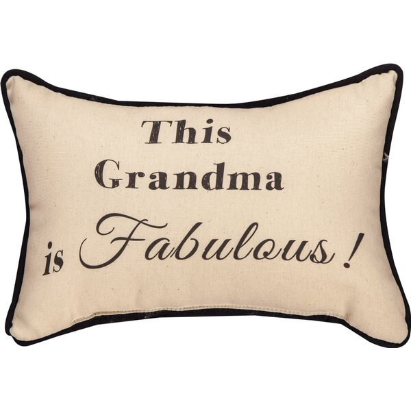 This Grandma is Fabulous Word Cotton Lumbar Pillow by Manual Woodworkers & Weavers