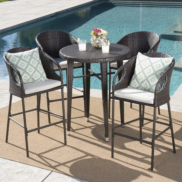 Gatti Outdoor Bar Height Dining Set by Ivy Bronx