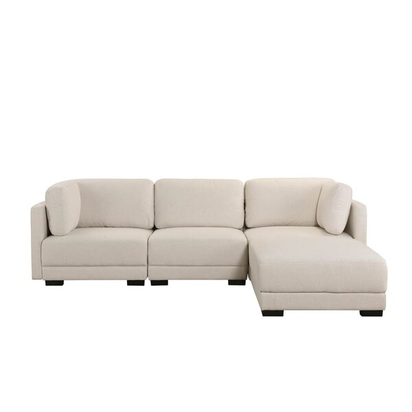 Stobie Reversible Modular Sectional With Ottoman By Ebern Designs