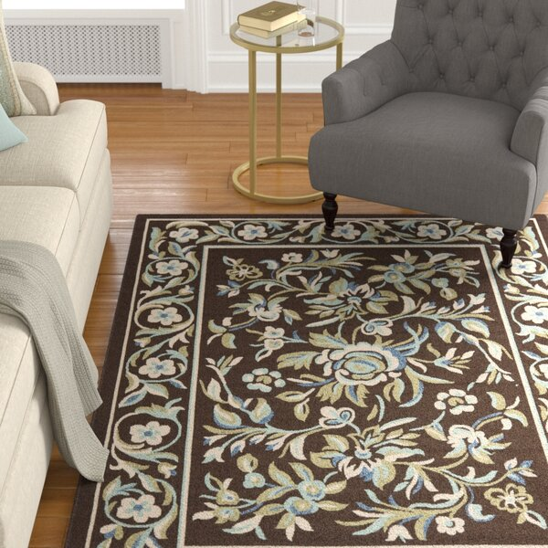 Rennie Brown/Blue Indoor/Outdoor Area Rug by Charlton Home