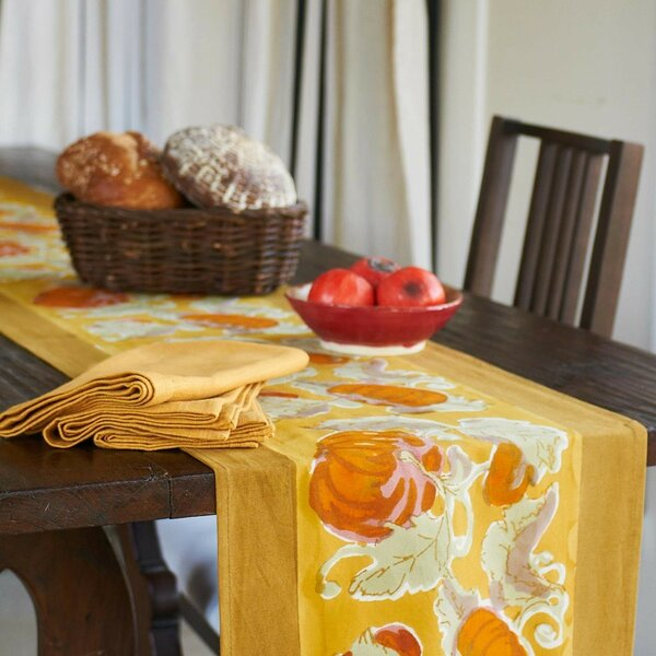 Pumpkin Table Runner by Couleur Nature