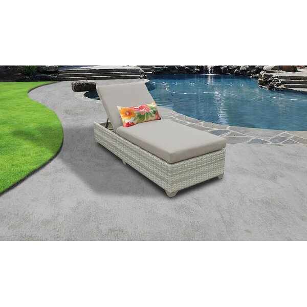 Genevieve Reclining Chaise Lounge with Cushion by Rosecliff Heights