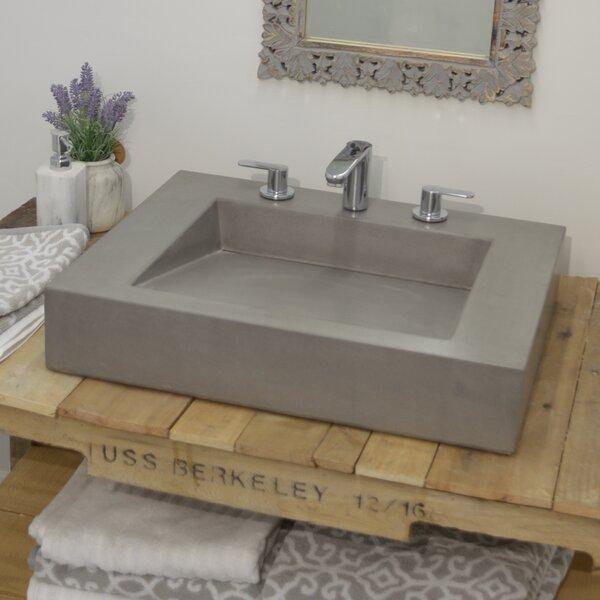 Ramp Concrete Rectangular Vessel Bathroom Sink